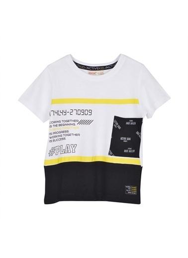 Silversun Kids Erkek Çocuk Baskılı Tişört Ile Şort Takım - & Bk 215680 -Sc 215681 Beyaz